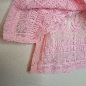 Grifflin Tops - 4/$25 Grifflin Small Pink Lace Beaded Top Blouse K